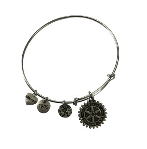 Alex and Ani inspired bracelet – Rhodium plated