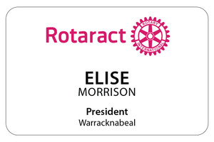 Rectangular Rotaract Member Dinner Badge