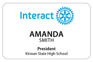 Rectangular Interact Member Dinner Badge