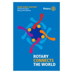 Rotary 2019-20 Theme Podium Banner