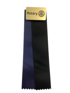 Magnetic Display Ribbon, Gold plastic with Blue and Black ribbons
