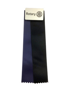 Magnetic Display Ribbon, Silver plastic with Blue and Black ribbons