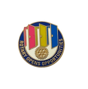 Rotary 2020-21 Theme Pin-back Lapel Pin