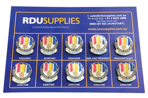 Rotary 2020-21 Theme Directors Lapel Pin Set