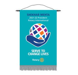 Rotary 2021-22 Theme Podium Banner
