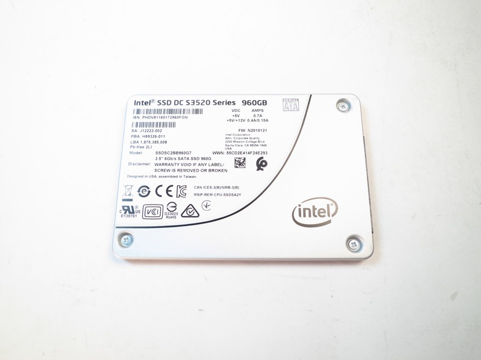 "SSDSC2BB960G7P New HP//Intel S3520 Series 960GB 2.5/"" SATA 6Gb//s MLC Internal SSD"