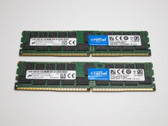 CT2K32G4RFD4213 CRUCIAL 64GB DDR4 2133 ECC REGISTERED DUAL RANK x4 CL15 PC4-17000 1.2V 288-PIN SDRAM MODULE