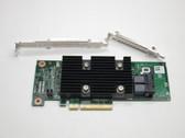 J7TNV DELL HBA330 SAS/SATA PCI-E 12Gb/s WITH BOTH BRACKETS HOST BUS ADAPTER NON-RAID PT FS