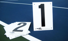 Tennis Court Numbers