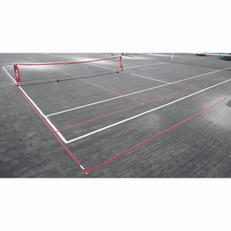 Temporary 10 & Under Tennis Lines for a 36' clay court