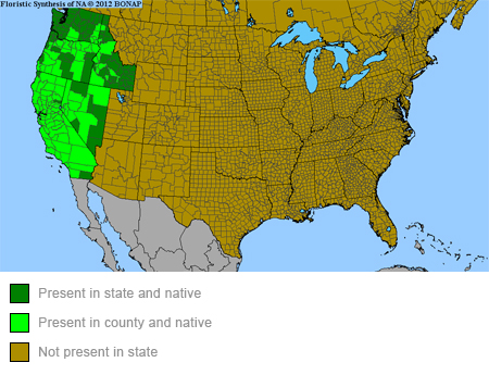 Narrowleaf Milkweed Range Map