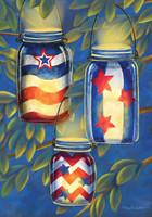 Patriotic Luminaries House Flag