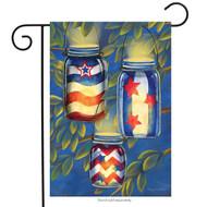 Patriotic Luminaries Garden Flag