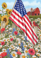 America the Beautiful House Flag