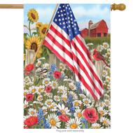 America the Beautiful House Flag