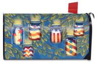 Patriotic Luminaries Mailbox Cover