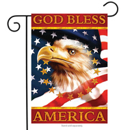 God Bless America Garden Flag