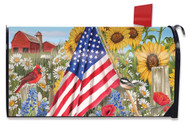 America the Beautiful Mailbox Cover