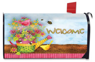 Floral Welcome Large Mailbox Cover