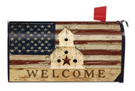 Americana Welcome Large Mailbox Cover