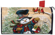 Winter Friends Large Mailbox Cover