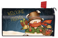 Welcome Friends Snowman Mailbox Cover