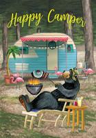 Happy Camper Bear Garden Flag