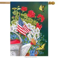 American Garden House Flag
