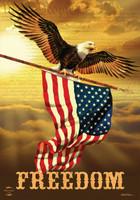Freedom Eagle Garden Flag