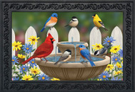 Birdbath Gathering Doormat