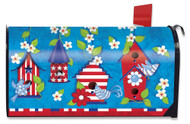 Patriotic Birds Large Mailbox Cover