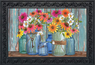 Farm Fresh Flowers Doormat
