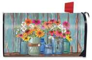 Farm Fresh Flowers Large Mailbox Cover