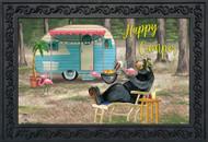 Happy Camper Bear Doormat