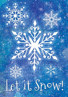 Snowflakes Collection House Flag