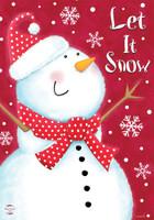 Snow Day Snowman House Flag