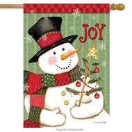 Snowman Joy House Flag