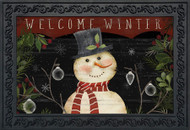 Welcome Winter Snowman Doormat