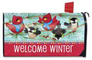 Winter Songbirds Mailbox Cover