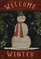 Welcome Winter Snowman Garden Flag