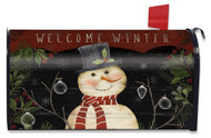 Welcome Winter Snowman Mailbox Cover