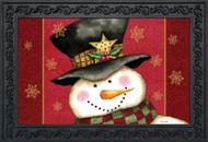 Holly Jolly Snowman Doormat