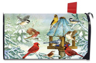 Cold Feet, Warm Hearts Mailbox Cover