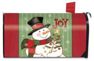Snowman Joy Mailbox Cover