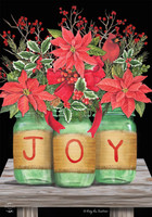Joy Mason Jars Garden Flag
