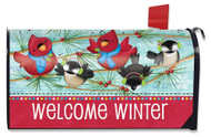 Winter Songbirds Large Mailbox Cover