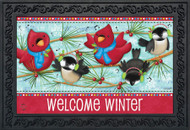 Winter Songbirds Doormat