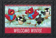Winter Songbirds Doormat