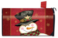 Holly Jolly Snowman Large Mailbox Cover