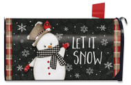 Celebrate Winter Snowman Large Mailbox Cover